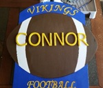 Football yard sign from CONNOR'S CUSTOM SIGNS