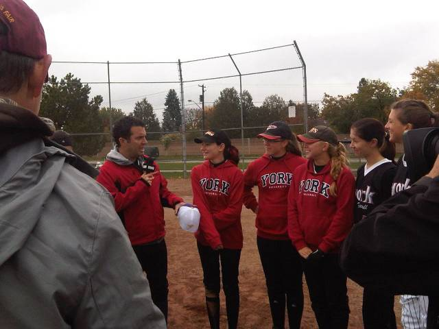 Rick Mercer interviewing Rebecca Xamin while Margie MacInnis, Lauren Renaud, Brianna Paddley and Ashley Skof provide colour commentary!