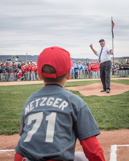 First Pitch at MB.  Thank you Steve Metzger.