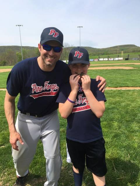 Minors Hitting Champion Jonah Mayer along with Dad/Coach Shane