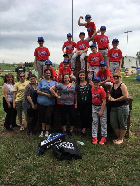 Our Majors Phillies team and family members hanging out