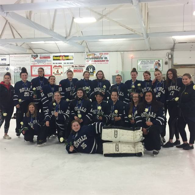 2018 HS Ringette-Selkirk Royals-Silver win