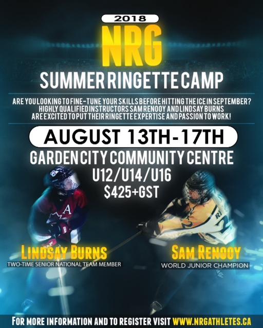 2018 NRG Ringette Camp