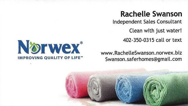 http://www.RachelleSwanson.norwex.biz
