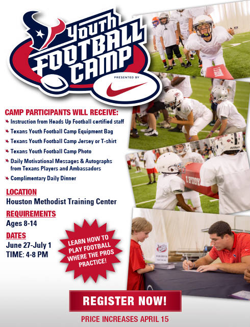 Texans Youth Football Camp