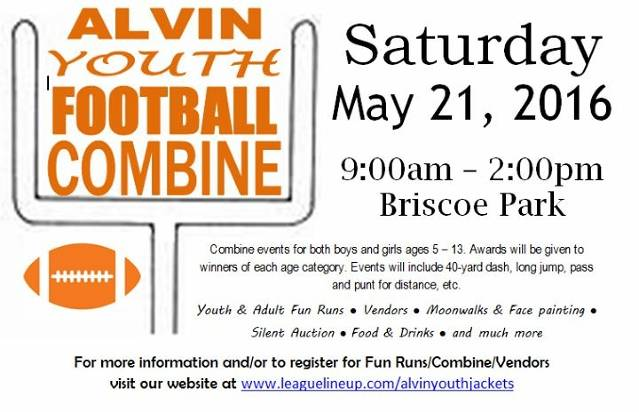 Alvin Youth Football Combine Flyer